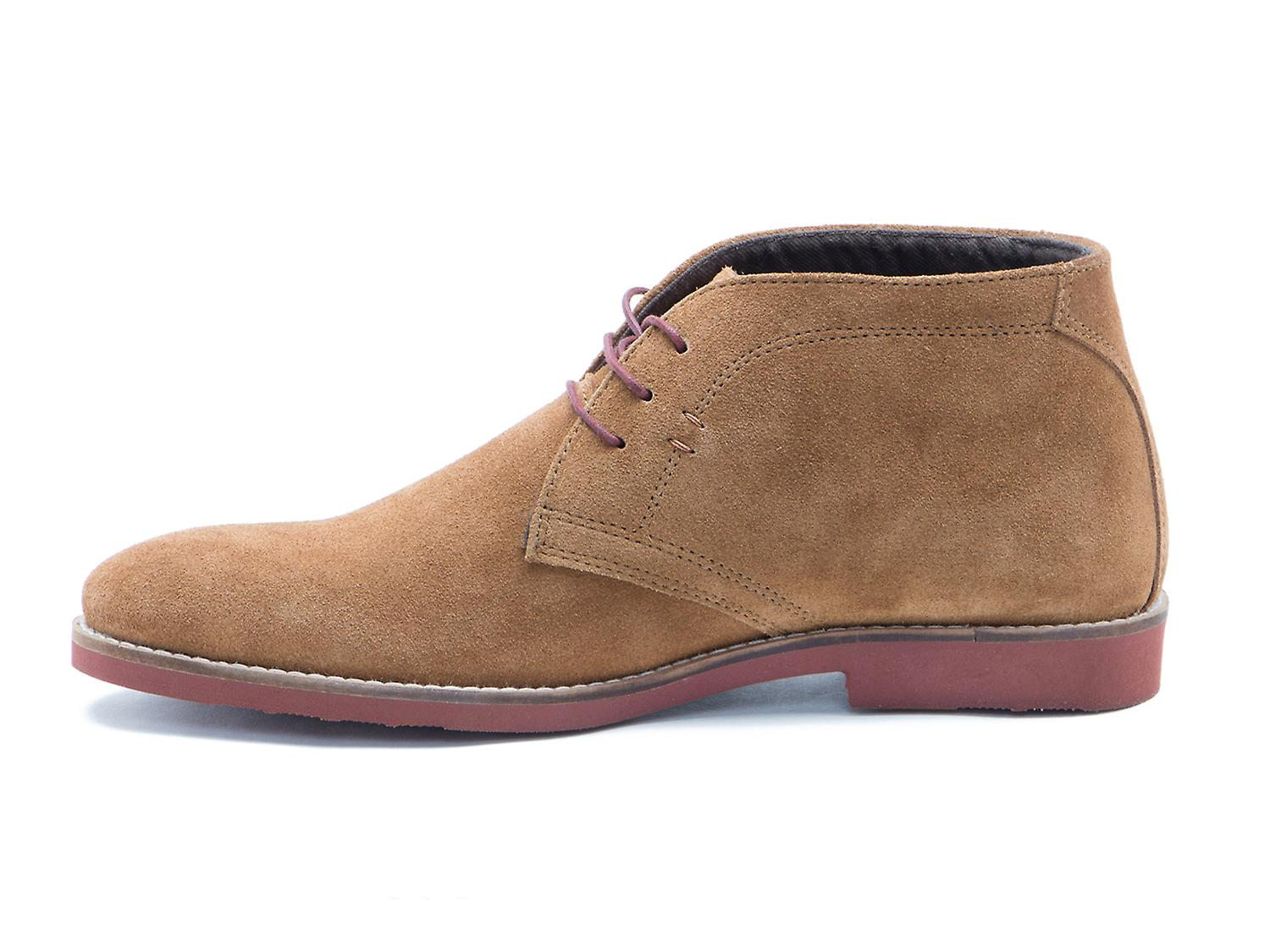 Red Tape Dorney Tan Brown Suede Mens Casual Desert Boots