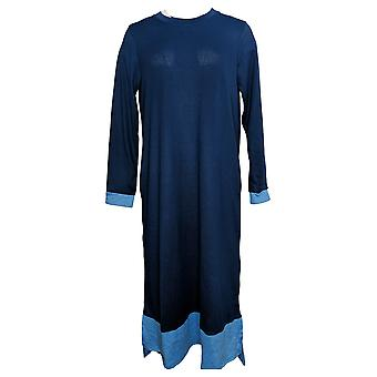 Cuddl Duds Women's So Cozy Marled Knit Lounger Blue A381724