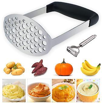 HanFei Kartoffelstampfer Edelstahl Kartoffel Stampfer,Kartoffelpresse fr cremiges Kartoffelpree,