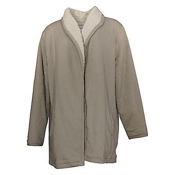 Koolaburra by UGG Women's Sweater Cardigan With Sherpa Lining Grey A386405