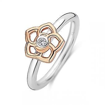 Ring ti Sento 12180ZR-sølv blomst dag e Dor pink kvinder