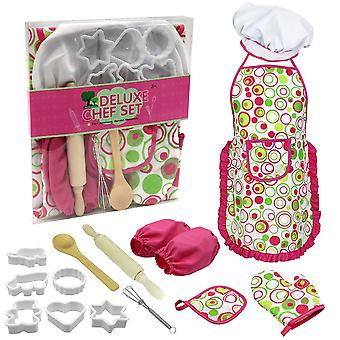 15-Piece children's baking clothes mold set cake baking and cooking clothes apron kitchenware