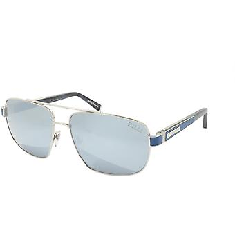 ZILLI Solglasögon Titanacetat Läder Polariserat Frankrike Handgjord ZI 65034 C03