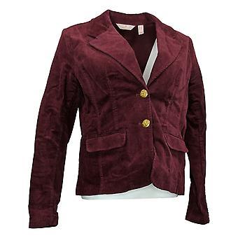 Laurie Felt Velours femme 2 boutons Blazer avec poches rouge A367302