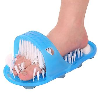 Bathroom Shower No Bending Feet Brush Foot Cleaning Bristle Slipper