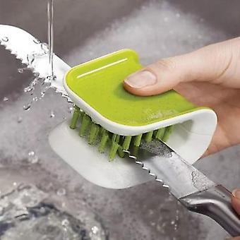 Kitchen cutlery safe cleaner brush bristle blade scrub kit