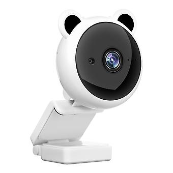White 1080p desktop laptop computer usb camera plug and play with microphone cai1482
