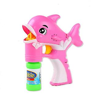 Delphin rosa und blau Blase Pistole Kit Wal automatische Blase Maschine Ballon blasen Maschine x3270