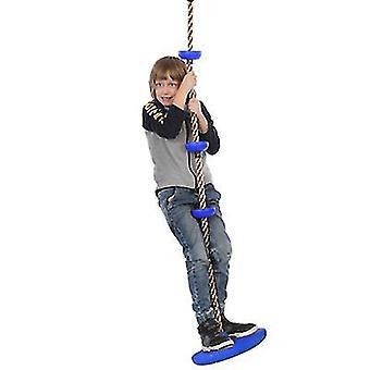 Keltainen 2 metriä pitkä levykiipeilyköysi keinu aistinvaraiset integrointilaitteet opettavat lasten ripustuslele lelu az9272