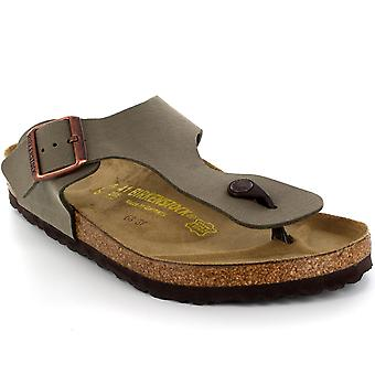 Herren Birkenstock Ramses Slip On Toe Post Holiday Beach Sommer Sandalen
