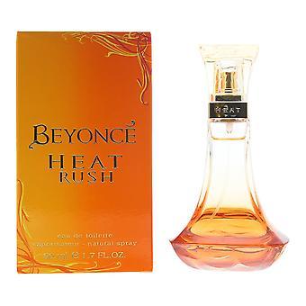Beyonce Heat Rush Eau de Toilette 50ml Spray For Her