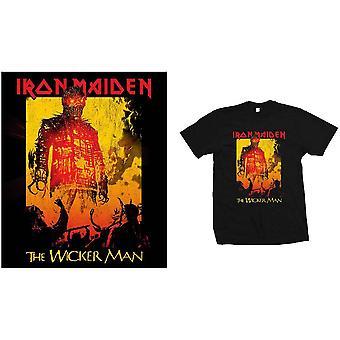 Iron Maiden - The Wicker Man Fire Mäns X-Large T-Shirt - Svart