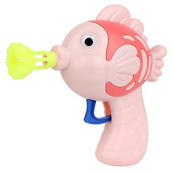 Cute fish soap water bubble gun bubble blower machine toy for kids