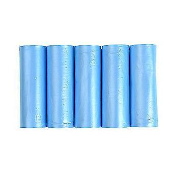 100 שקיות אשפה ניידות גדולות עבות, שקיות אשפה חד פעמיות לבית (כחול)