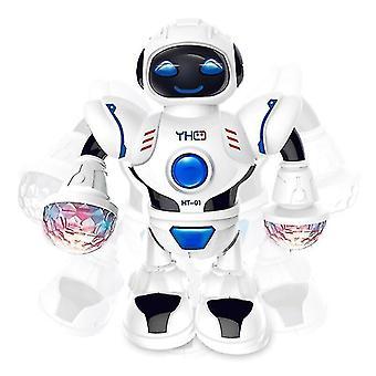 Mini Rc Robot Med Belysning Musikk Dans Intelligent Modell Simulert Gåroboter Tidlig