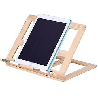 Creative Wooden Frame Reading Bookshelf Bracket Book Bookends Tablet PC Support Music Stand Wood