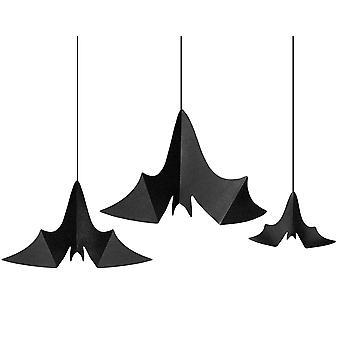 3 Hengende Bat Halloween Party Dekorasjoner