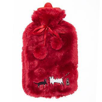 Bouillotte avec couvercle, grand sac d'eau chaude isolant de 2 L, chauffe-mains amovible lavable pour soulager la douleur Thérapie chaude et froide - Grandes bouillottes en caoutchouc, chauffage portable