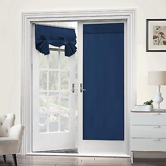 2X franska dörrgardiner termisk isolerad dörrpanel sekretess dörr skugga tricia gardin för dörrfönster gardiner, marin