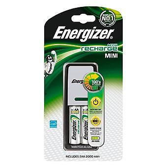Carregador + Baterias Recarregáveis Energizer ENE300321000 LR6 BL4 AA 2000 mAh
