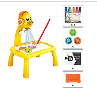 24 Styles Children Led Projector Art Drawing Table Toys Kids