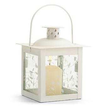 Galleri av lys vintreet mønster firkantet hage lanterne - 5 inches, pakke med 1