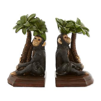 Accent Plus Monkey and Palm Tree Bookends, Pack of 1