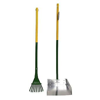 Four Paws Wee-Wee Pan and Rake Set Large - 1 count