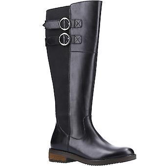 Hush Puppies Womens Carla Leather Memory Foam Calf Boots