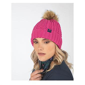 Aubrion Womens Pimlico Hat Soft Knitted Bobble Pom Pom Cap Accessory