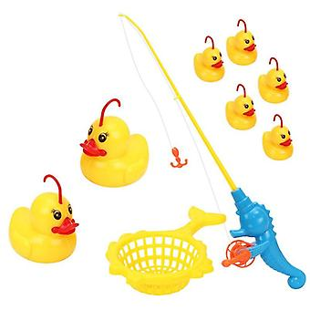 9 Pieces/Set Of Induction Luminous Duck Fishing Game Toy Pond Swimming Pool Bathing Water Toys