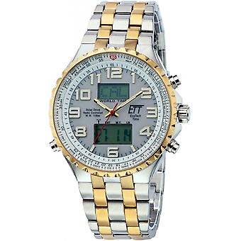 ONE (Eco Tech Time) Gold Stainless Steel EGS-11329-82M Men's Watch