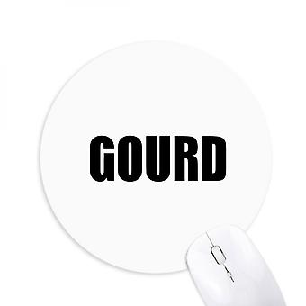 Gourd Vegetable Name Foods Round Non-slip Rubber Mousepad Game Office Mouse Pad