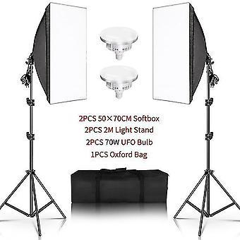 Fotografia 50x70cm softbox zestawy oświetleniowe profesjonalny system oświetlenia z żarówkami fotograficznymi e27