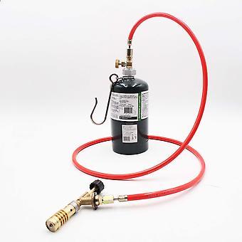 Kupferschweißbrenner kompatibel mit Amerikanern Mapp Gase Zylinder Flammenwerfer mit Schlauch für Löt-Propan-Schweiß-Kit