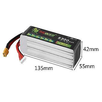22.2v 6s 5200mah 30c Lipo Battery Power For Trex Rc Heli Quadcopter