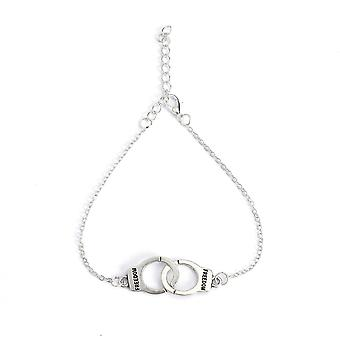 Láb karkötő ékszer bokalánc női lányok bokaláb lánc bűbájos bilincs karkötő divat strand ékszer (ezüst)