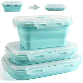 Contenants d'entreposage d'aliments pliables en silicone