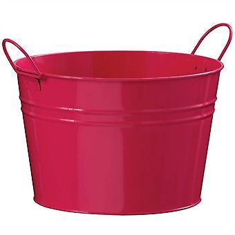 Pink Wiaderko okrągłe cynku