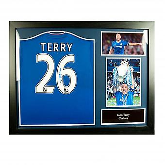 Chelsea Terry ondertekend Shirt (geframede)