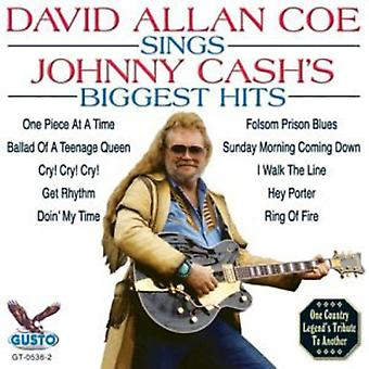 David Allan Coe - Sings Johnny Cash's Biggest Hits [CD] USA import
