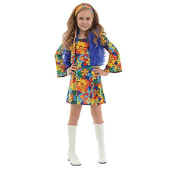 Far Out Hippie Hippy 1970s Flower Power Peace Retro Book Week Girls Costume