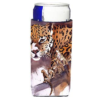 Carolines Schätze JMK1193MUK Geparden Ultra Getränke Isolatoren für schlanke Dosen