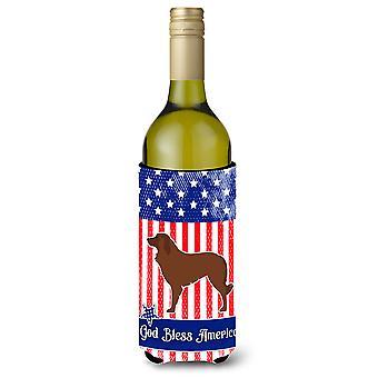 USA patriotique Berger portugais chien bouteille de vin Beverge isolateur Hugger
