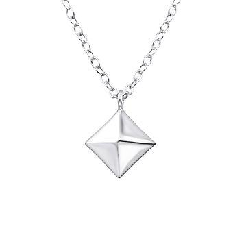 Square - 925 Sterling Silver Plain Necklaces - W33278x