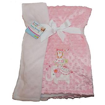 最初の手順刺繍ミンク バブル赤ちゃん毛布ダブル両面