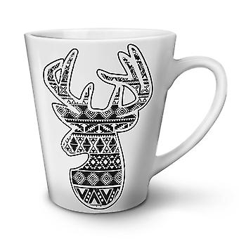 Deer Holiday Christmas NEW White Tea Coffee Ceramic Latte Mug 12 oz | Wellcoda