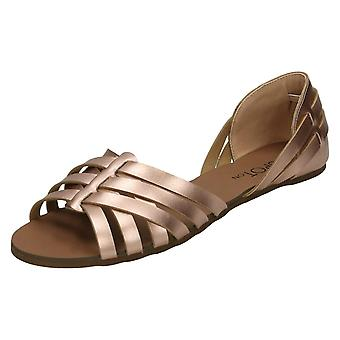 Ladies Spot On Strappy Sandal F00051