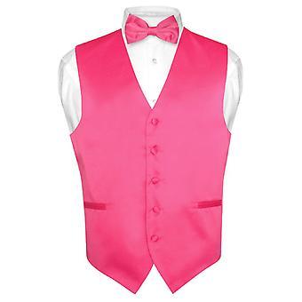 Mænds Dress Vest & Butterfly Solid Butterfly sæt for Suit Tux