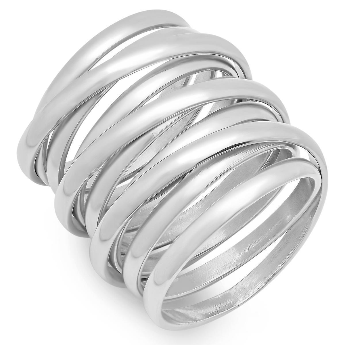 Ladies Stainless Steel Multiwrap Ring